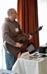 Jonah Knight providing music in the hall, Feb 23