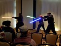 Demonstration of Futuristic Swordfighting, lightsaber kata, Mar 2