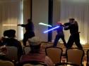 Demonstration of Futuristic Swordfighting, lightsaber kata, Mar 2