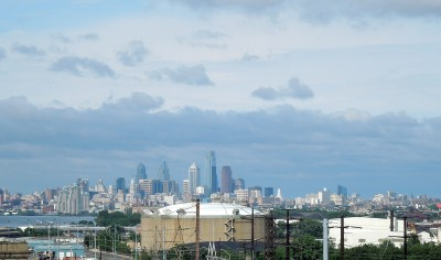 Philadelphia Skyline from the Betsy Ross Bridge, June 8