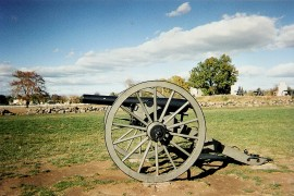 Cannon at Gettysburg - photo courtesy of Ann Kuni
