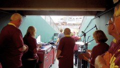 Waiting in the tunnel to go into the stadium, August 22, 2012