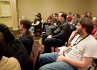 Some of the attendees at the Losing Humanity to Artificial Intelligence Panel, Feb 21