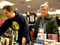 Authors Patrick Thomas and John French in the Dealers' Room, Feb 22