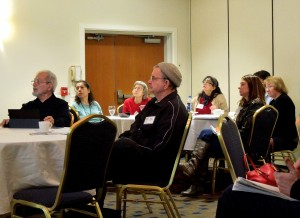 Writers attending The Essential Elements of Online Marketing Workshop with Don Lafferty, March 20, 2014