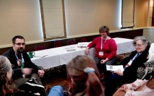 "Panel: ""Women in Space"" with Michael Solontoi, Kim Headlee, and Paula S. Jordan, 3-1"