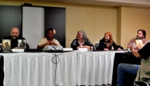 Panel: Weird Westerns with R. S. Belcher, Nicole Givens Kurtz, Danielle Ackley-McPhail, Jean Marie Ward, and Doc Coleman, 4-25