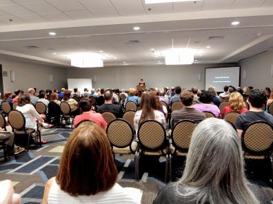 Attendees listening to Opening Speaker Sara Shepard
