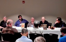 Panel: Gadgets in Fiction - How Do You Work Technology into Your Fiction with Mark L Van Name, Doc Coleman, Jack McDevitt, Walt Boyes, and Lawrence Schoen, 5-23