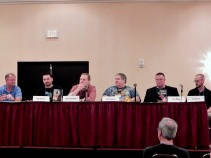 Panel: Them's Fighting Words - Writing Combat in Science Fiction with Chris Kennedy, Ron Garner, Darin Kennedy, Tedd Roberts, Tom Mays, and Jay Posey, 7-11