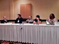 Panel: Series, Serial, or Cereal with Timothy Zahn, John Hartness, Darin Kennedy, Ron Garner, and Alicia McCalla, 7-12