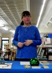 Kerry Gans speaking at her book launch for The Witch of Zal at The Doylestown Bookshop, 3-19