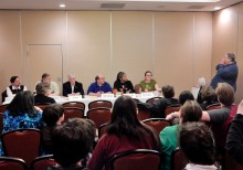 """Panel: """"First Contact Improv"""" with Michael A. Ventrella, Peter Prellwitz, Jim Beall, Steven Hancock, Emmy Jackson, Abigail Wallace, and Tedd Roberts, 2-26"""