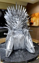 The Iron Throne from Game of Thrones up for bids at the Charity Auction, 2-26