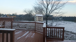 Snowfall on the first day of spring in the Author Chronicles' hometown