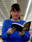 Kerry Gans reading from The Witch of Zal at her book launch at The Doylestown Bookshop, 3-19