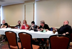 The Popup Panel with Carla Brindle and the first five panelists who showed up, 2-27
