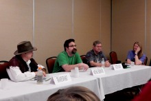 "Panel: ""Bad Science - Real World"" with Travis Sivart, Michael Solontoi, James 'Butch' Allen, and Carla Brindle, 2-28"