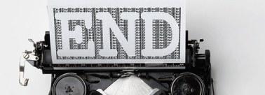 typewriter says end