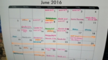 My June schedule. Yikes!