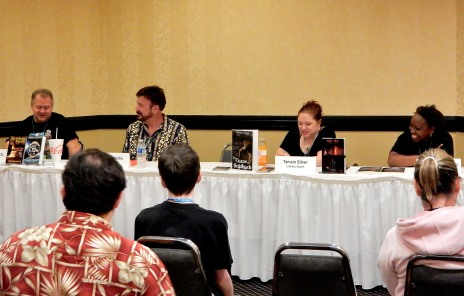 Panel: Genre Blending - SF&F & More with Chris Kennedy, Larry N. Martin, Tamsin L. Silver, and Nicole Givens Kurtz, 7-16