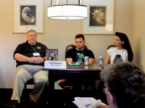 Panel: Protagonists with PTSD with Tedd Roberts, Ronald T. Garner, and Janine K. Spendlove, 7-16