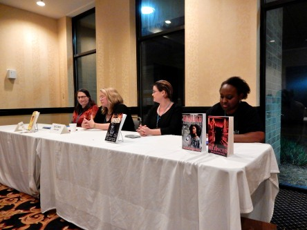 Panel: Writing a Series - The How and the What with Samantha Bryant, Gail Z. Martin, Leona Wisoker, and Nicole Givens Kurtz, 7-16