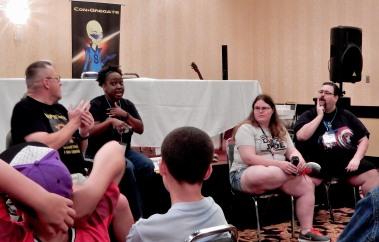 Panel: DC vs. Marvel with Chris Shrewsbury, Nicole Givens Kurtz, JT the Enginerd, and Gary Mitchel, 7-17