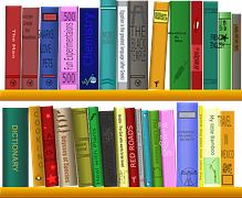 books - shelf-159852__180 via Pixabay - Author Chronicles - reading