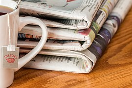 newspaper-1595773__180 via Pixabay - Author Chronicles