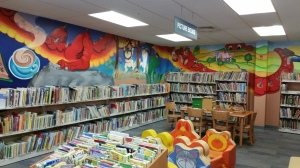 Amazing murals in the Children's area at Ocean City Library