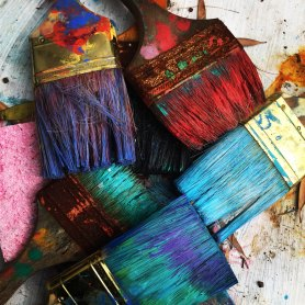 The Author Chronicles, J. Thomas Ross, colorful paint brushes