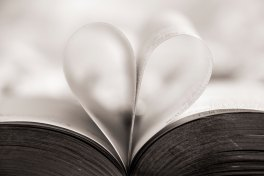 The Author Chronicles, J. Thomas Ross, folded book pages forming a heart