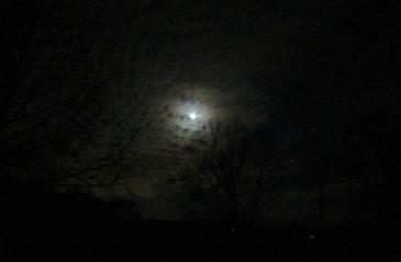 The Author Chronicles, J. Thomas Ross, full moon, night clouds