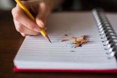 The Author Chronicles, J. Thomas Ross, pencil and notebook, writing, craft