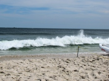 The Author Chronicles, J. Thomas Ross, Top Picks Thursday, Island Beach State Park, waves breaking on the shore