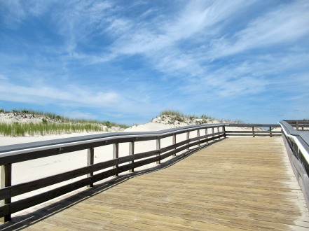 The Author Chronicles, J. Thomas Ross, Top Picks Thursday, Island Beach State Park, wooden walkway to the beach
