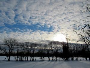 The Author Chronicles, Top Picks Thursday, J. Thomas Ross, cloud-studded dawn with snow